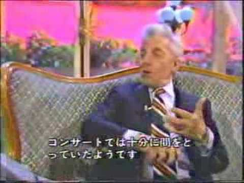 Karajan - Interview with Seiji Ozawa - 1981 - Paris?
