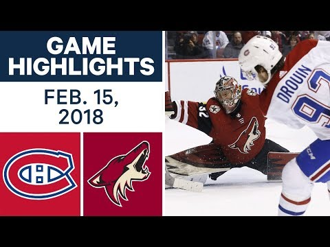 Video: NHL Game Highlights | Canadiens vs. Coyotes - Feb. 15, 2018