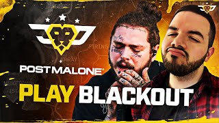 POST MALONE'S FIRST TIME ON BLACKOUT!!! (Call Of Duty: Black Ops 4)