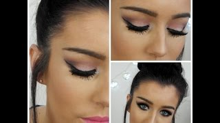 Valentines Day Makeup With Hot Pink Lips 2015 - YouTube