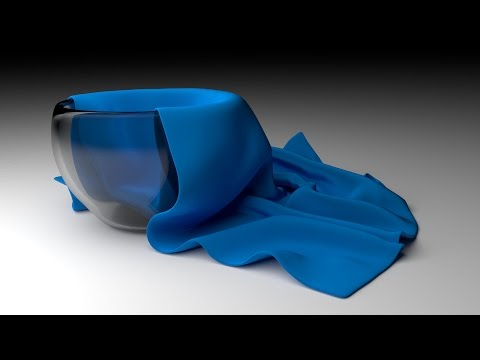 blender - http://www.LittleWebHut.com This Blender video demonstrates how to make an image of a cloth napkin draped over a glass cup. Blender's cycles render engine is...
