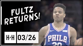 Markelle Fultz RETURNS Full Highlights Nuggets vs 76ers (2018.03.26) - 10 Pts, 8 Ast, 4 Reb!