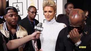 On The Mic   Paris Hilton, Birdman and Mack Maine At 2014 Grammy Awards