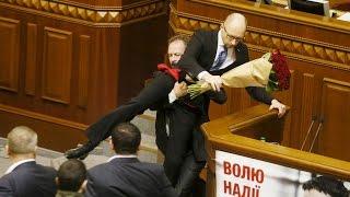 MP's  fight in Ukraine's Parliament