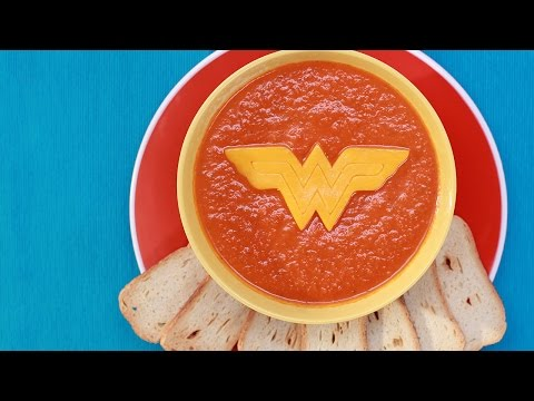 WONDER WOMAN TOMATO SOUP – NERDY NUMMIES