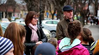 Project opening event with press conference / walking in Subotica