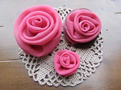 Цветы из ткани своими руками розы