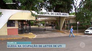 Internação nas UTIs em Marília tem queda de 73% nos últimos cinco dias