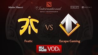 Fnatic vs Escape, game 1