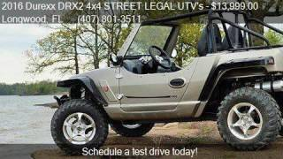 9. 2016 Durexx DRX2 4x4 STREET LEGAL UTV's DRX2 4x4 for sale in