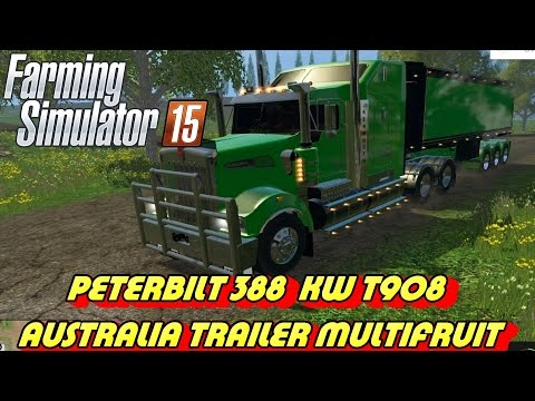 Peterbilt 388 / KW T908 + Australia trailer Multifruit