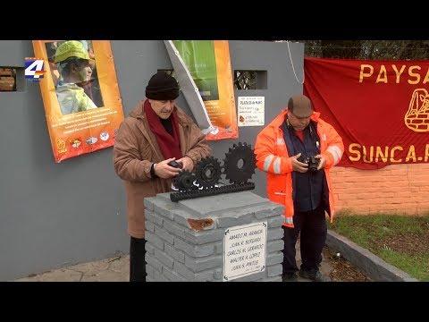 Trabajadores de la construcción rindieron homenaje a obreros fallecidos en accidente de Azucitrus ocurrido en 1987