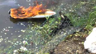 Unsinkable Speedboat Donzi RC Boat On FIRE - Proboat -  Aquacraft