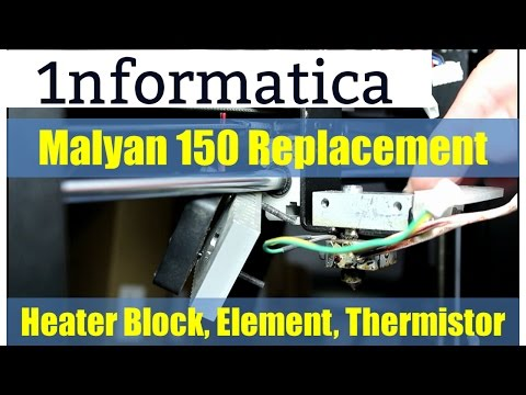 Malyan 150 Replacement Heater Block, Heater Element and Thermistor from Banggood