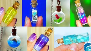 20 mini Charm Bottles - Cutest Jewelry DIY! MINI CHARMS IN A BOTTLE!