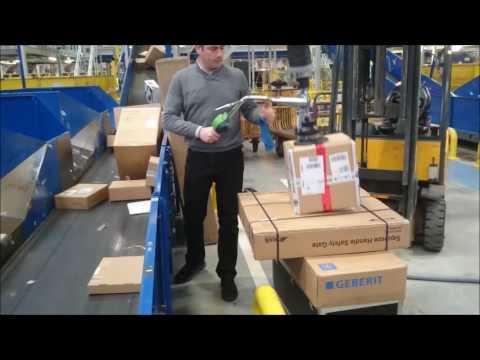 Manutention de cartons sur ligne de production