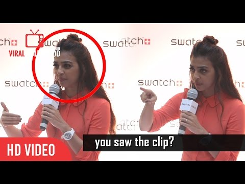 Radhika Apte Gets Angry On A Reporter | Very Ridiculous | Insulting | With Subtitles
