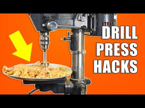 5 Quick DRILL PRESS Hacks - Woodworking Tips and Tricks (видео)