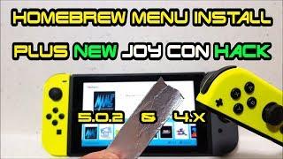 Video How to install HomeBrew Menu on Nintendo Switch + JoyCon Tin Foil Trick 1.0.0-5.1.0 firmware RCM MP3, 3GP, MP4, WEBM, AVI, FLV Oktober 2018