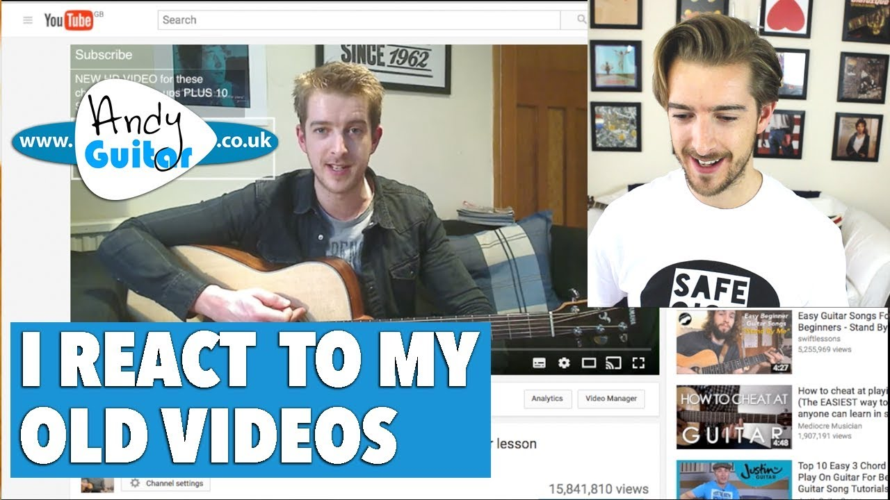 I REACT TO MY OLD YOUTUBE VIDEOS
