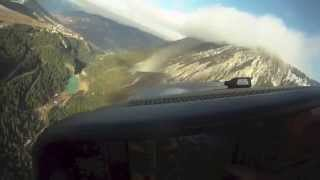 Landing A Cirrus SR22 Turbo At Courchevel Altiport On Cloudy Day