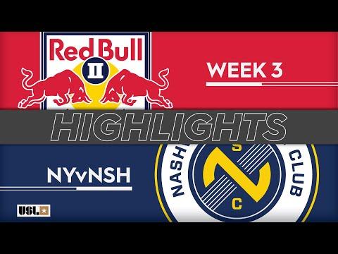 Нью-Йорк Ред Буллз-2 - Nashville SC 1:1. Видеообзор матча 24.03.2019. Видео голов и опасных моментов игры