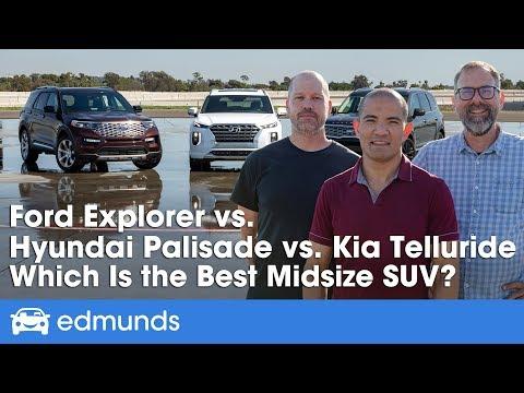 Kia Telluride vs. Hyundai Palisade vs. Ford Explorer — 2020 Midsize SUV Comparison Test