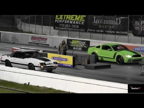 Boss 302 vs Mustang GT 5.0 - Drag Race Video - Road Test TV