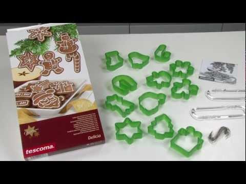Видео Формочки для печенья из пластмассы Tescoma Формочки Рождественские украшения DELICIA, 12 шт. Tescoma 630917