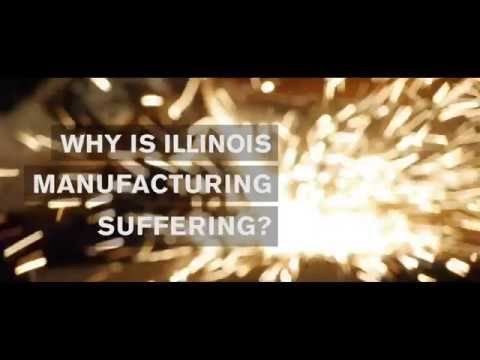 Why is Illinois manufacturing suffering?