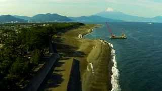 空撮 / 三保の松原と富士山