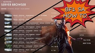 How to find South African Battlefield 1 matches