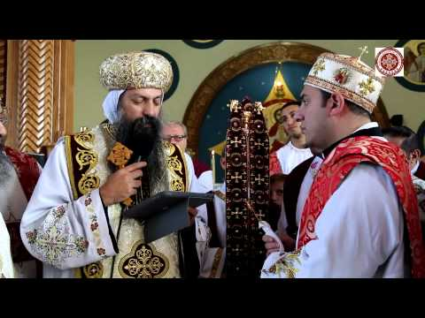 Ordination Of Peter By Bishop David in Church of ArchAngel Michael and Saint Mena