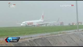 Download Video Hujan Deras, Pesawat Lion Air Tergelincir di Bandara Supadio, Pontianak MP3 3GP MP4