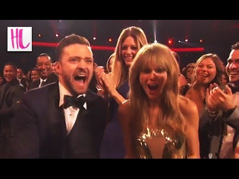 taylor - Taylor Swift wins 4 2013 American Music Awards and has an adorable fake freakout with Justin Timberlake as he wins an AMA as well. Subscribe! http://bit.ly/1...