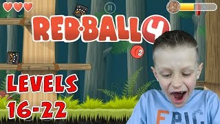 Ronald plays Redball 4, levels 16-22 (Android) | KID GAMING