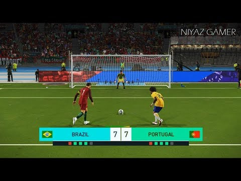 BRAZIL Vs PORTUGAL | Penalty Shootout | PES 2018 Gameplay PC