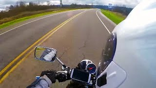 5. Top speed - Suzuki TU250x - Afternoon ride - max speed mph