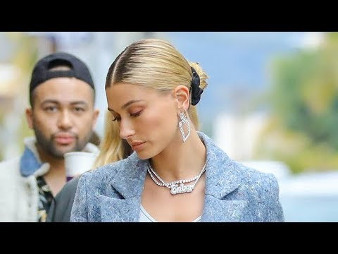 Hailey Baldwin Asked About Wedding Postponement While Flaunting Diamond 'Bieber' Necklace