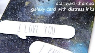 Star Wars-themed Galaxy Card with Distress Inks