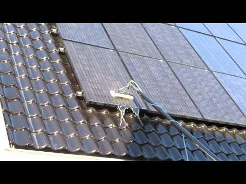 Reinigen dak zonnepanelen