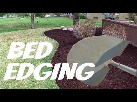 Landscape Flower Bed Edging Made Easy, Bulk Mulch, Lawn Care Vlog #4 (видео)