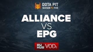 Alliance vs Elements Pro Gaming, Dota Pit Season 5, game 1 [CrystalMay, Lex]