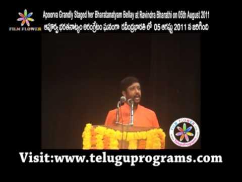 Apoorva Grandly Staged her Bharatanatyam at Ravindra Bharathi Speech Video 3