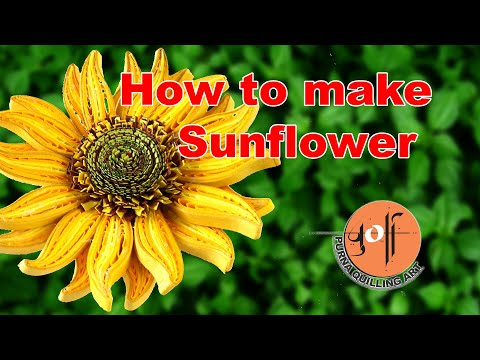 How to make quilled sunflower