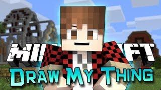 Minecraft: FUNNY! Draw My Thing Mini-Game w/Mitch&Friends!