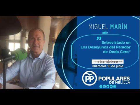 Miguel Marín en los Desayunos de Onda Cero Melilla