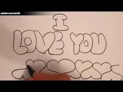 I love you карандашом