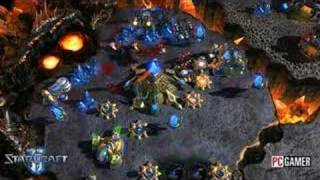 Starcraft 2 Gameplay footage and unit preview