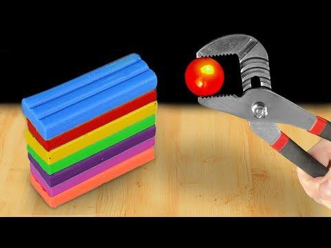 EXPERIMENT: Glowing 1000 Degree Metal Ball VS Plasticine - Thời lượng: 5 phút, 29 giây.